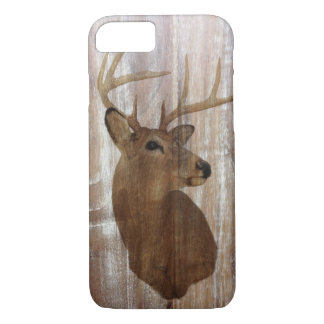 Outdoorsman Western Primitive barn wood deer iPhone 8/7 Case