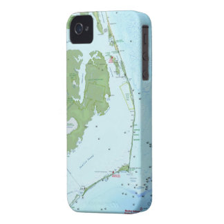 Outer Bank Map Case-Mate iPhone 4 Cases