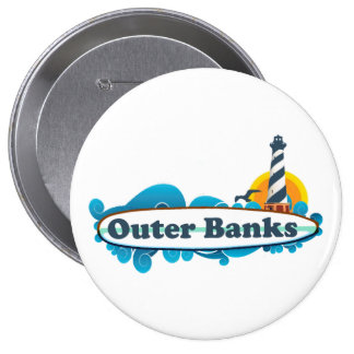 Outer Banks. 4 Inch Round Button