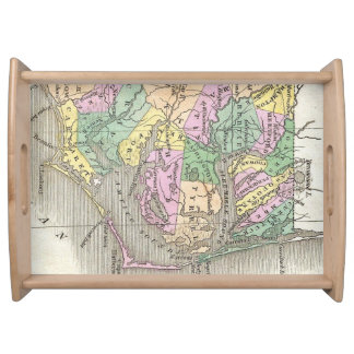 Outer Banks and Eastern North Carolina Map 1827 Serving Platter