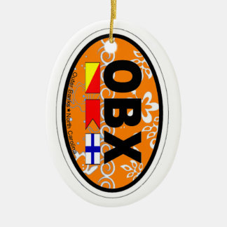 Outer Banks. Ceramic Oval Ornament