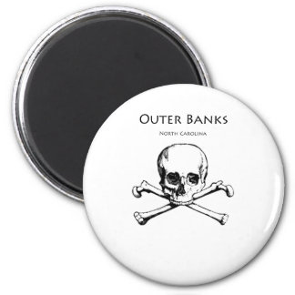 Outer Banks Jolly Roger 2 Inch Round Magnet