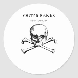 Outer Banks Jolly Roger Round Sticker