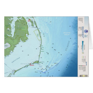 Outer Banks Map Greeting Card
