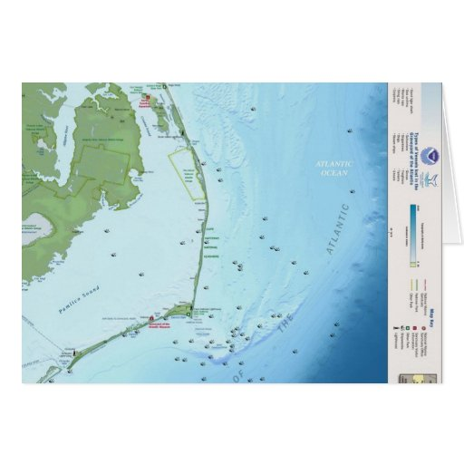 Outer Banks Map Card