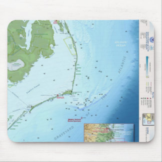 Outer Banks Map Mouse Pad