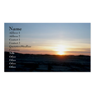 Outer Banks NC Sunset Business Card