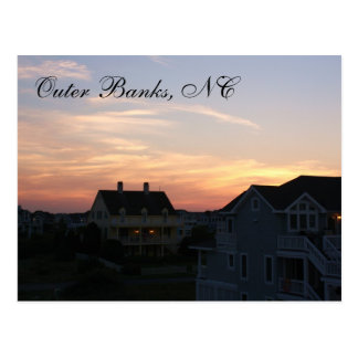 Outer Banks, NC Sunset Postcard