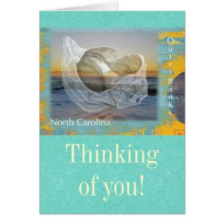 Outer Banks North Carolina Seashell & Surf Greeting Card