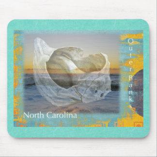 Outer Banks North Carolina Seashell & Surf Mouse Pad