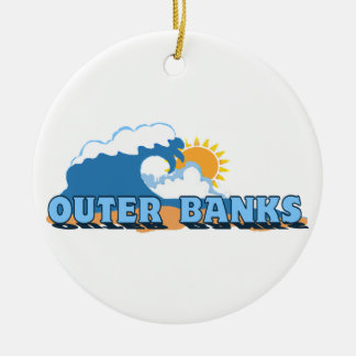Outer Banks. Round Ceramic Ornament