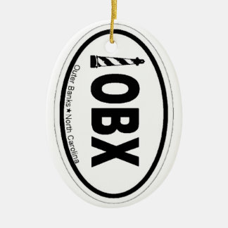 Outer Banks. Double-Sided Oval Ceramic Christmas Ornament