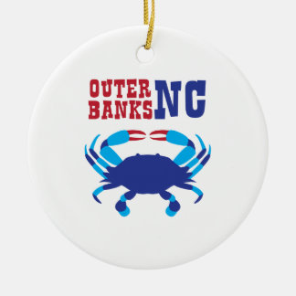 Outer Banks Round Ceramic Ornament