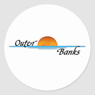 Outer Banks Round Sticker