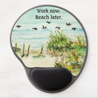 Outer Banks Sand Dunes and Seagulls Gel Mouse Pads