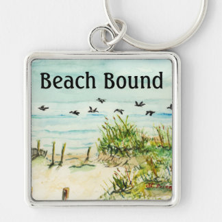 Outer Banks Sand Dunes and Seagulls Key Chain