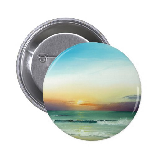 Outer Banks Sunrise Pinback Button