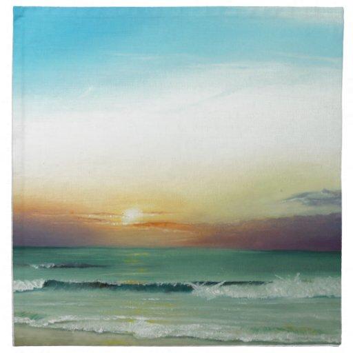 Outer Banks Sunrise Cloth Napkin