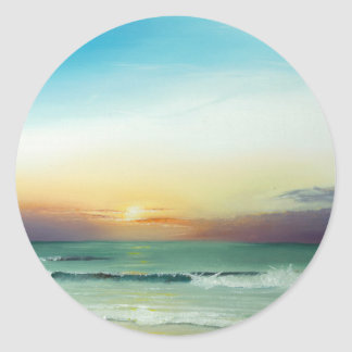Outer Banks Sunrise Round Sticker