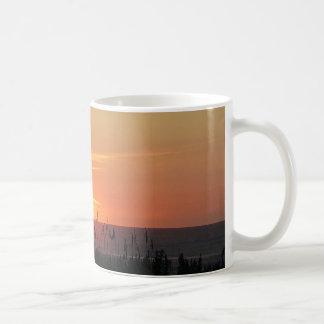 Outer Banks Sunrise through the Sea Oats Classic White Coffee Mug