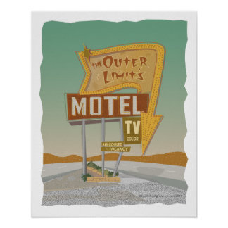 Outer Limits Motel-from Route 66 Memories Poster