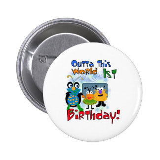 Outer Space 1st Birthday Pins