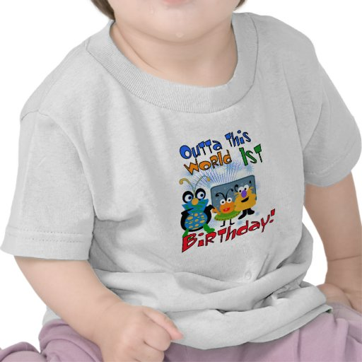 Outer Space 1st Birthday Tshirts and Gifts