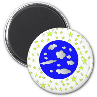 Outer Space 2 Inch Round Magnet