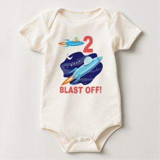 Outer Space 2nd Birthday Baby Bodysuit