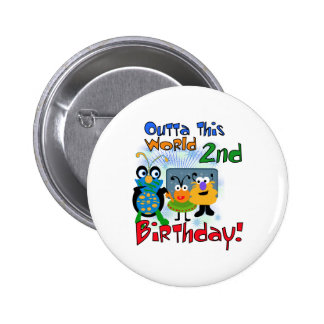 Outer Space 2nd Birthday Pin