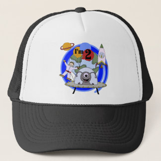 Outer Space 2nd Birthday T-shirts and Gifts Trucker Hat
