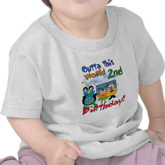 Outer Space 2nd Birthday Tshirts and Gifts