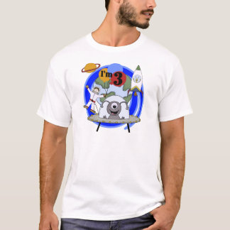 Outer Space 3rd Birthday Tshirts and Gifts