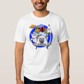 Outer Space 4th Birthday Tshirts and Gifts