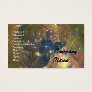Outer Space Abstract Painting, Business Card