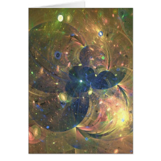 Outer Space Abstract Painting, Greeting Card