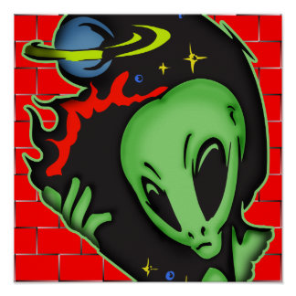 Outer Space Alien Posters
