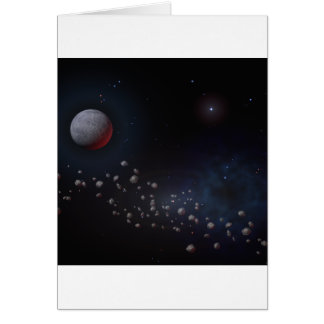 Outer Space Asteroids & Planets Card