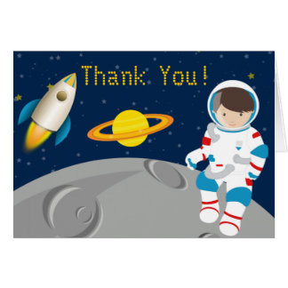 Outer Space Astronaut Thank You Card