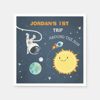 Outer Space Birthday Napkins rocket Astronaut Ship