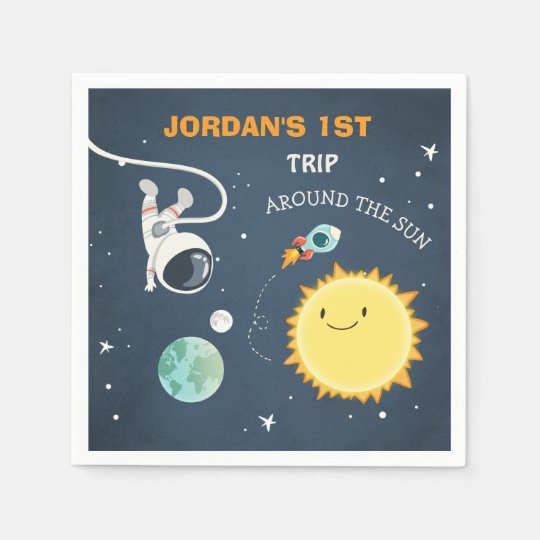Outer Space Birthday Napkins rocket Astronaut Ship Paper Napkins