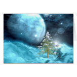 Outer Space Christmas Greeting Card