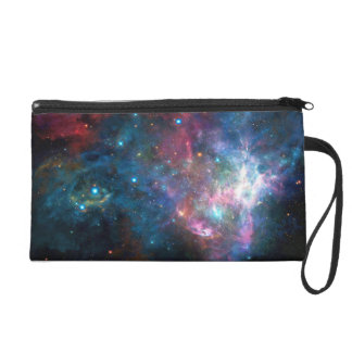 Outer Space Galaxy Nebula Wristlet