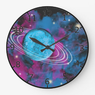 Outer Space Large Clock