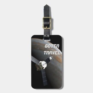 Outer space planet and probe luggage tag