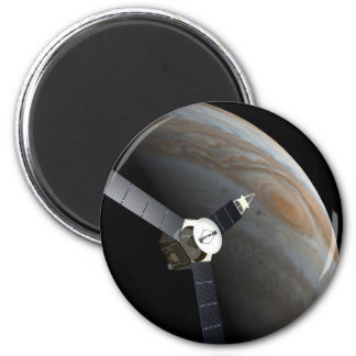 Outer space planet and probe magnet