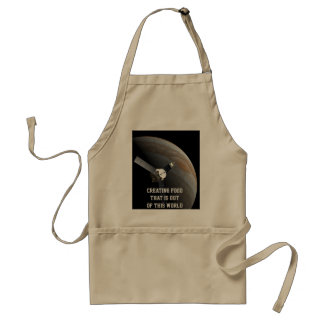Outer space planet and probe standard apron