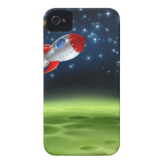 Outer Space Planet Cartoon Background Case-Mate iPhone 4 Case