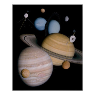 Outer Space Planets Poster