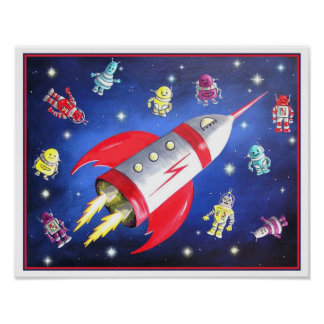 Outer Space Poster Posters